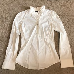 Zara ruffle button down shirt top xs